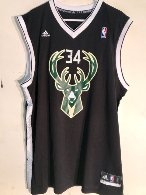 hot sales 27e57 e0216 Adidas NBA Jersey Milwaukee Bucks Giannis Antetokounmpo Black Alt sz 2X