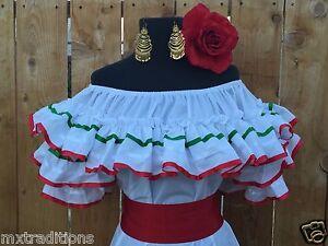 Mexican Blouse Fiesta 5 De Mayo Wedding On Or Off Shoulder Sash