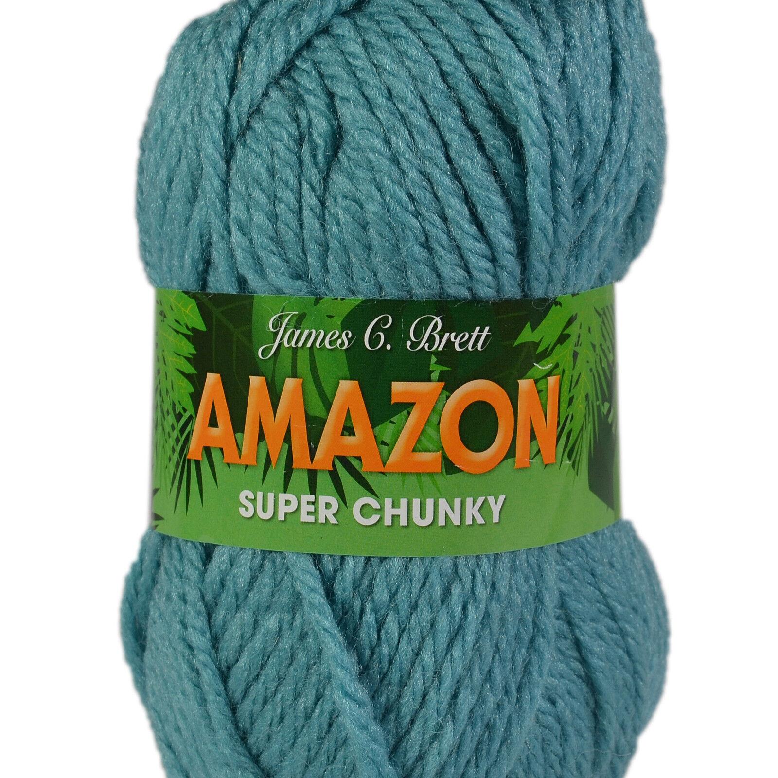 James C Brett Amazon Super Chunky 100g Wool Yarn J11 Dk Grey
