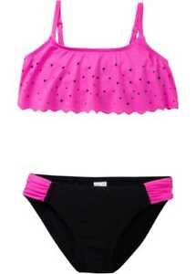 Bikini schwarz/neonpink Größe 128/134