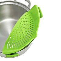 Plastic Kitchen Extras Silicone Vegetable Rice Strainer Cooked Food Drainer Past