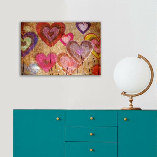 Framed Canvas Floral Modern Wall Art Picture Prints Balloon Hearts Abstract