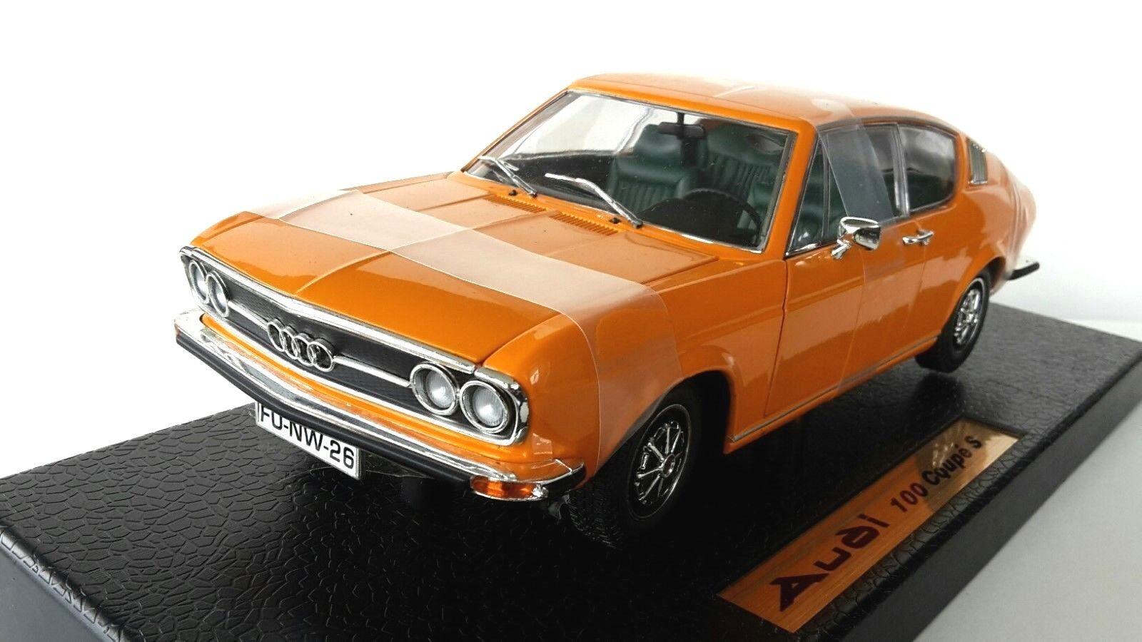 Anson 1/18 1:18 AUDI 100 Coupé S Orange-Nº 30402 Diecast voiture modèle. | Apparence Attrayante  | Réduction  | La Réputation D'abord