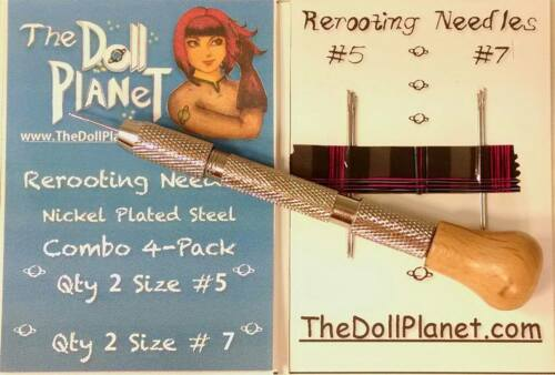 Doll Rerooting Tool kit 4 Needles for Rerooting Dolls Rehairing My Little Pony