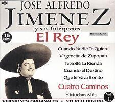 Jose Alfredo Jimenez Y Sus Interpretes El Rey 15 Exitos Vol 1 Caja De Carton CD