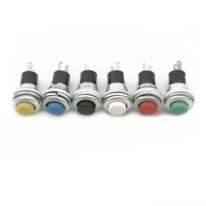 24pcs-Momentary-Push-Button-Switch-Horn-10mm-Doorbell-Car-6Color