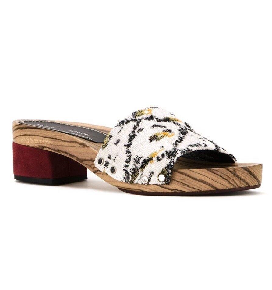 promozioni NEW 6   36 Proenza Schouler Slip Slip Slip On Wood Tapestry Clog Slide Sandal  570  ottima selezione e consegna rapida