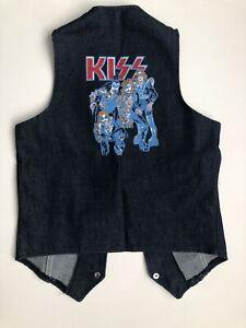 "Vintage Kiss Vest Denim Kids ""Kiss By Image"" Size 12"