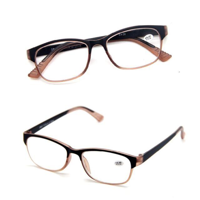 Mens & Womens Classic Retro Gradient Frame Rim Reading Glasses Readers +1.0~+4.0