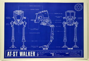 At st walker blueprint star wars zanart entertainment ebay image is loading at st walker blueprint star wars zanart entertainment malvernweather Image collections