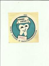 ADESIVO VINTAGE STICKER  SOCIETA' SVIZZERA DI ODONTOSTOMATOLOGIA 1986