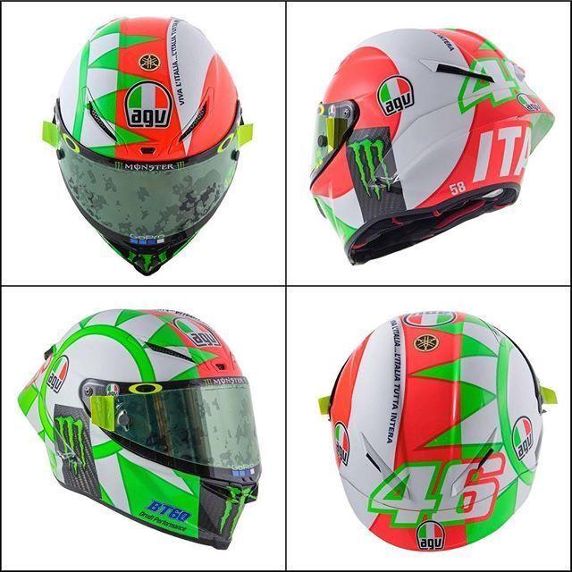 #VR46# ROSSI # ITALIEN MUGELLO TRICOLORES MOTOGP AGV PISTA GP-R Casque intégral