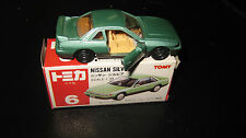 TOMY  TOMICA 1.59 SCALE  #46 NISSAN SILVIA   MADE IN JAPAN VERY HARD TO FIND CAR