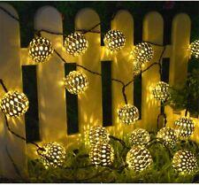 Solar String Lights 100 LED Moroccan Garden Hanging Lantern Fairy Light Outdoor