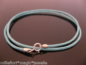 """2mm Turquoise Leather /& Sterling Silver Necklace Or Wristband 14/"""" 16/"""" 18/"""" 20/"""""""