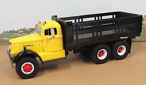 Fumby-Street-Motors-1957-White-WC-22-Stake-Truck-1-15-MIB-Yellow-Black-SALE