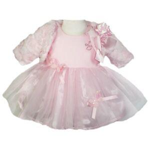 f7953c28e314 BRAND NEW BABY GIRLS DESIGNER LITTLE DARLINGS PINK DRESS AND FUR ...