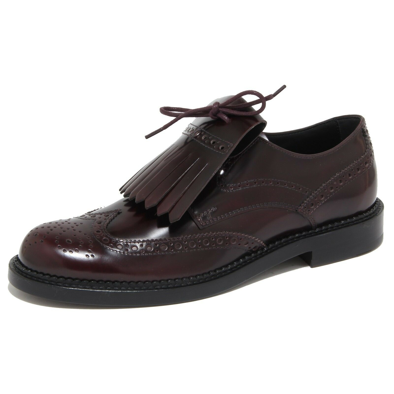 6974N scarpa uomo TOD'S bordeaux bordeaux bordeaux Scarpe man frangia removibile c5e8e1