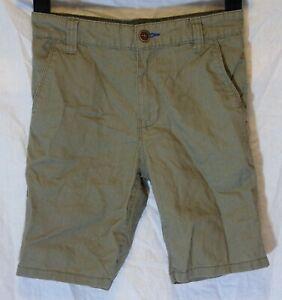 NEXT-Ragazzi-Verde-Cachi-Scuro-Misto-Lino-Smart-Casual-Pantaloncini-Eta-9-anni