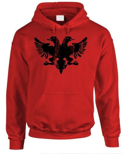 ALBANIAN EAGLE Funny Retro Albania Flag Fleece Pullover Hoodie