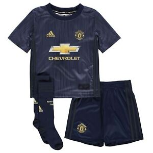 c10ee9e99 Details about adidas Kids Boys Manchester United Third Mini Kit 2018 2019  Domestic Minikits