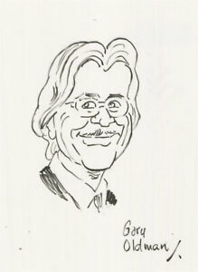 Terry Shelbourne (1930-2020) - Contemporary Pen and Ink Drawing, Gary Oldman