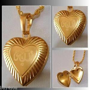 b008a6c3097d Das Bild wird geladen Halskette-Allah-Anhaenger-Halsschmuck-Halskette -Strassstein-Islam-Moslem-