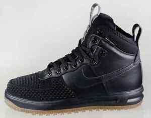 wiele modnych nowe obrazy Los Angeles Details about Nike Lunar Air Force 1 DuckBoot Black Wheat Gum Bottom 805899  003 Men Size7.5~15