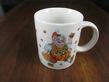 SANTA'S MAGICAL COOKIES COFFEE CUP/MUG CHERYL ANN JOHNSON STONEWARE SAKURA CANDY
