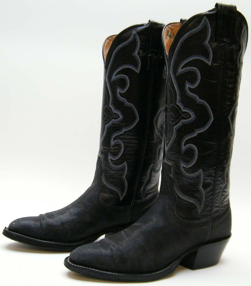 Damenschuhe NOCONA BLACK GENUINE STINGRAY TALL COWBOY WESTERN BOOTS SZ 4 B 4B