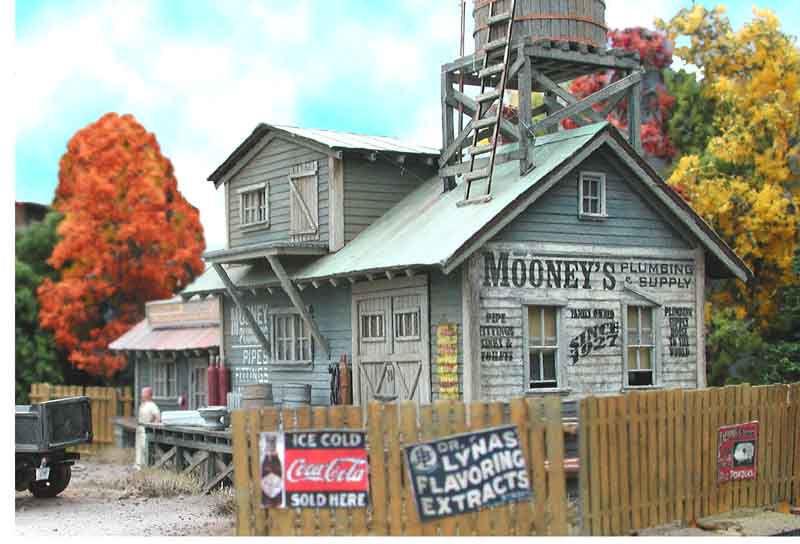 BAR MILLS BUILDINGS 822 HO Mooney's Plumbing Model Railroad Train Kit FREE SHIP