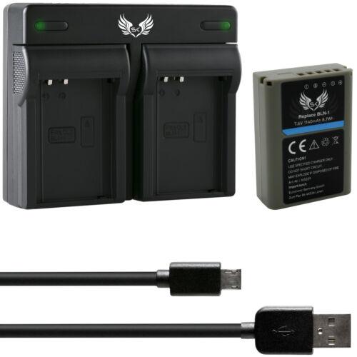 Dual Caricabatteria per bln11065229-90108-90385 SK Batteria per Olympus bln-1