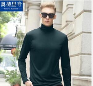 TURTLE-NECK-LONG-SLEEVE-FOR-MEN-DARK-GREEN-MEDIUM