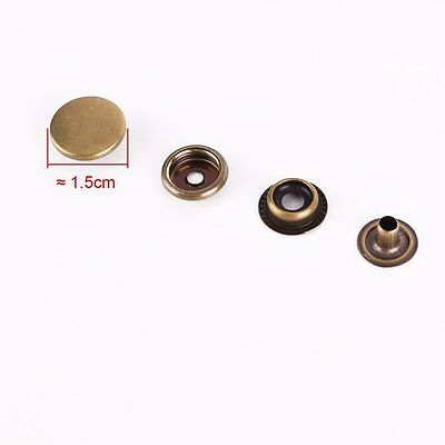 12.5mm Bronzes Press Studs S Spring Popper Snap Fasteners Leathercraft Sewing