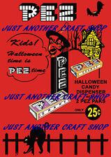 Pez Halloween 1959 Candy Dispenser A3 large size vintage Poster advert sign