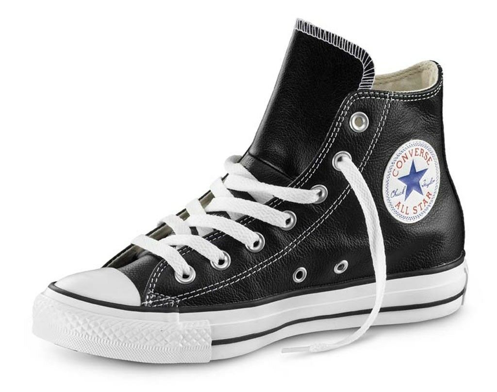 shoes Converse Converse Converse All Star Nere in Pelle Classic Black suola white 108d56
