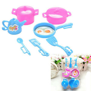 Kitchen-Tableware-Doll-Accessories-For-Dolls-Girls-Baby-Play-House-Toy-JR