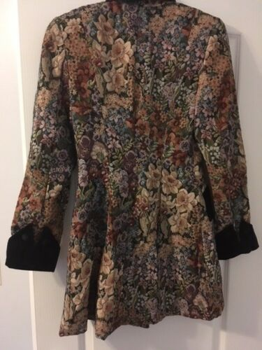 With Allen Tapestry di Accents Jacket Abs Size Velvet Schwartz Gorgeous 4 n6YWUqE