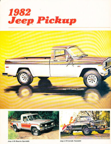 Honcho LAredo 1982 Jeep J-10 J10 Truck Sales Brochure Folder