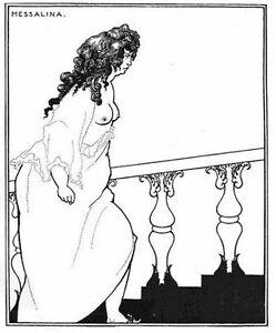 Aubrey-Beardsley-1899-Litho-039-Messalina-returning-from-the-Bath-034-Bodley-Head-COA