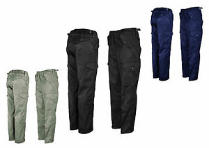 Camping Office Warehouse Cargo trousers Black Royal and Green Work wear Trouser
