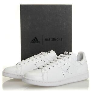 dc527bf3b808 Adidas Raf Simons Stan Smith White Black Leather Sneakers - Mens 7 ...