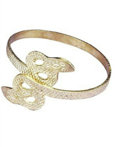 Gold Metal Snake Egyptian Cleopatra Armband Bracelet Costume Jewelry Accessory