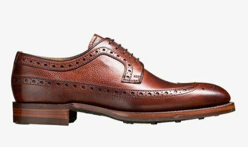 Hommes Fait Cuir Véritable Grain Lacer Oxford Brogue Des Chaussures