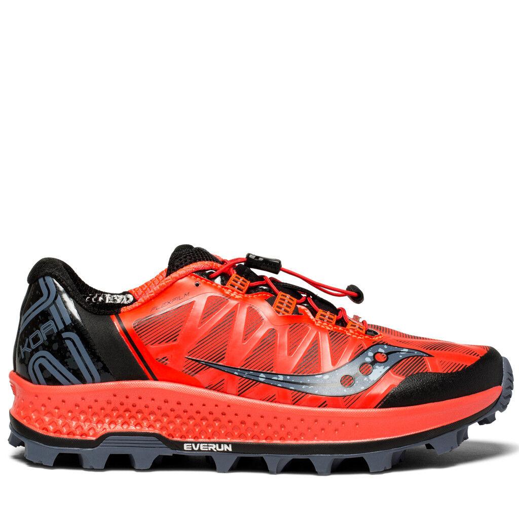 Saucony Koa ST Damen Laufschuhe Runningschuhe Trail Rot  | Preisreduktion
