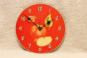 RED APPLES CLOCK