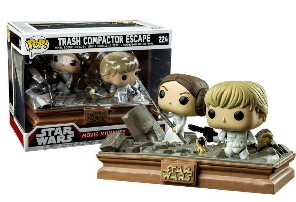 Star Wars Trash Müllpresse Escape Leia & Luke Skywalker Pop  Funko Vinyl