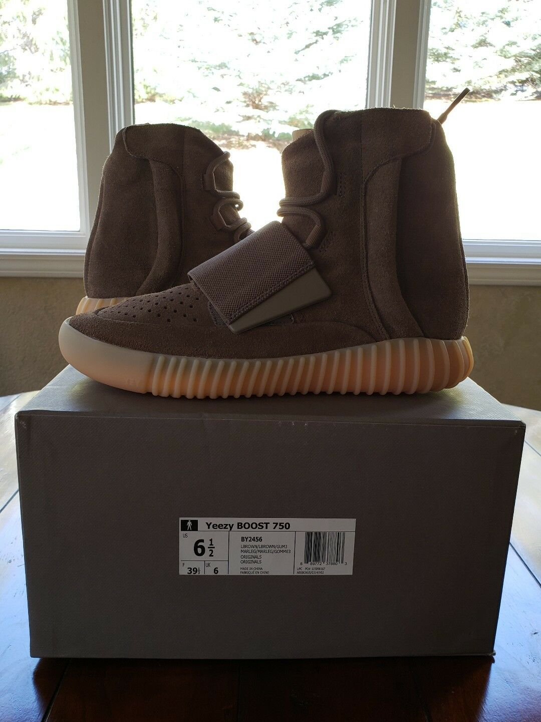 ADIDAS YEEZY BOOST 7508 6.5 BROWN  CHOCOLATE BY2456 NEW