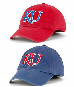 d6023d8f954e8 Kansas Jayhawks Franchise Slouch Cap from  47 Brand Blue or Red NWT ...
