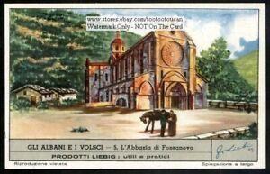 Abbey-Of-Fossanova-Lazio-Italy-60-Y-O-Trade-Ad-Card